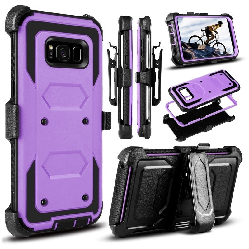 YUMQUA Cover Case For Samsung Galaxy S8 Case Shock Adsording Hybrid Rugged Impact Protective Phone