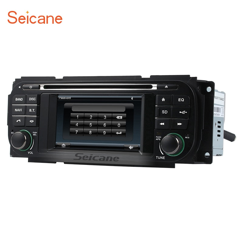 Seicane WinCE 6.0 car DVD Radio for 1999-2004 Jeep Grand Cherokee head unit Auto A/V DVD Radio GPS Navigation with Bluetooth