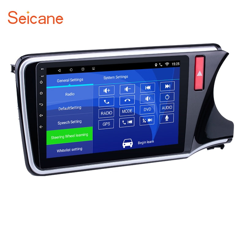 "Seicane 10.1"" 2din Android Radio Bluetooth GPS Multimedia Player for 2014 2015 2016 2017 HONDA CITY RHD support Backup Camera"