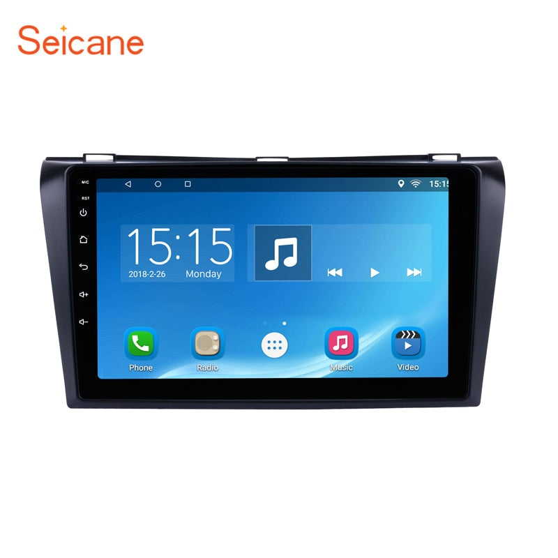 "Seicane Android 6.0/7.1/8.1 2Din 9"" Car DVD  Multimedia Player For 2004 2005 2006 2007 2008 2009 Mazda 3 4-core GPS Wifi"