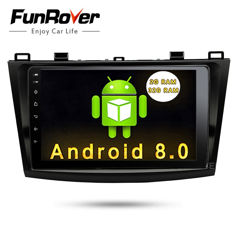 "Funrover 9"" Android 8.0 2 din car multimedia stere for Mazda 3 gps navigation Mazda 3 maxx Axela Radio RDS Mirror-link Bluetooth"