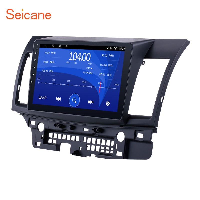 Seicane Android 7.1/8.1 Quad Core Car Stereo GPS Navigation Radio Player for 2008-2015 Mitsubishi Lancer-ex with FM 10.1""