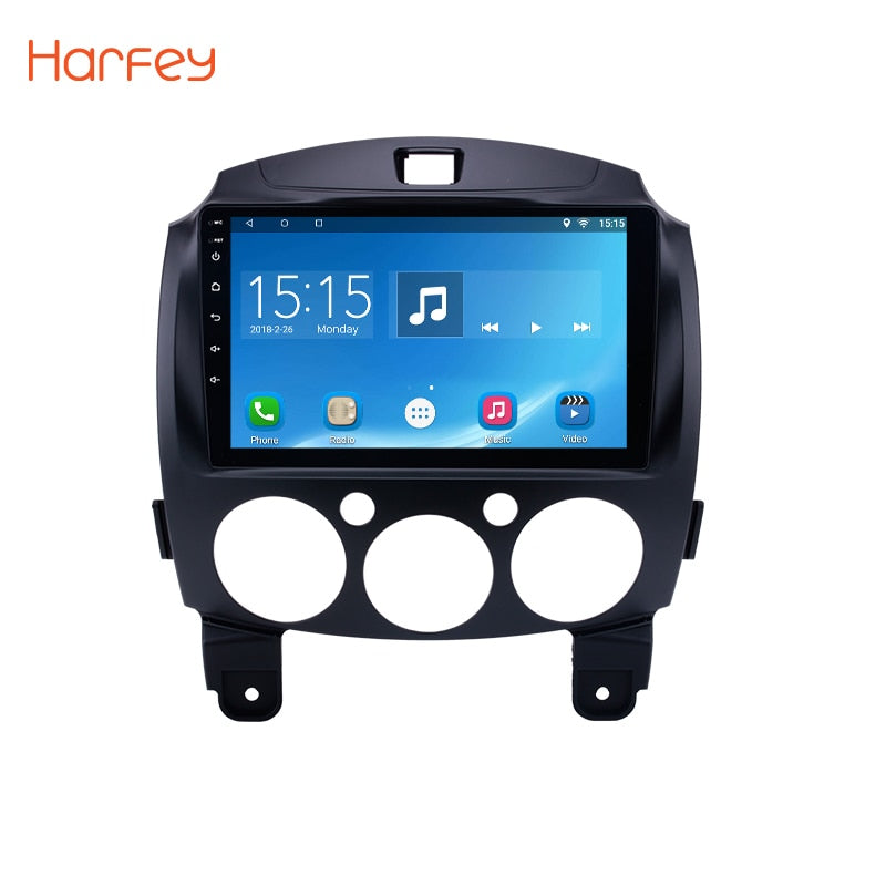 "Harfey Android 6.0 9""Car Radio Multimedia Player GPS Head Unit For MAZDA 2/Jinxiang/DE/Third generation 2007 2008 2009 2010-2014"