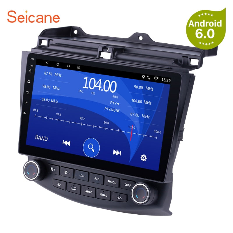 "Seicane 2DIN Android 6.0/7.1 10.1""GPS Car Radio Wifi Multimedia Player Head Unit For Honda Accord 7 2003 2004 2005 2006 2007"