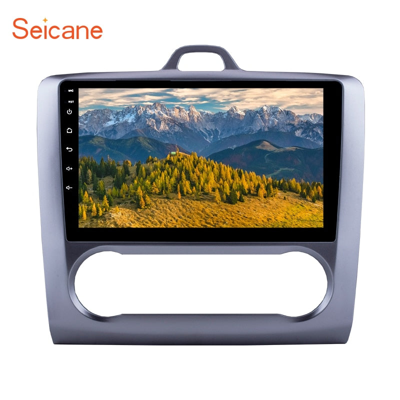 "Seicane 2Din Android 6.0/7.1 9"" Car Radio For 2004-2011 Ford Focus Exi AT Stereo GPS Multimedia Player Head Unit Quad Core"