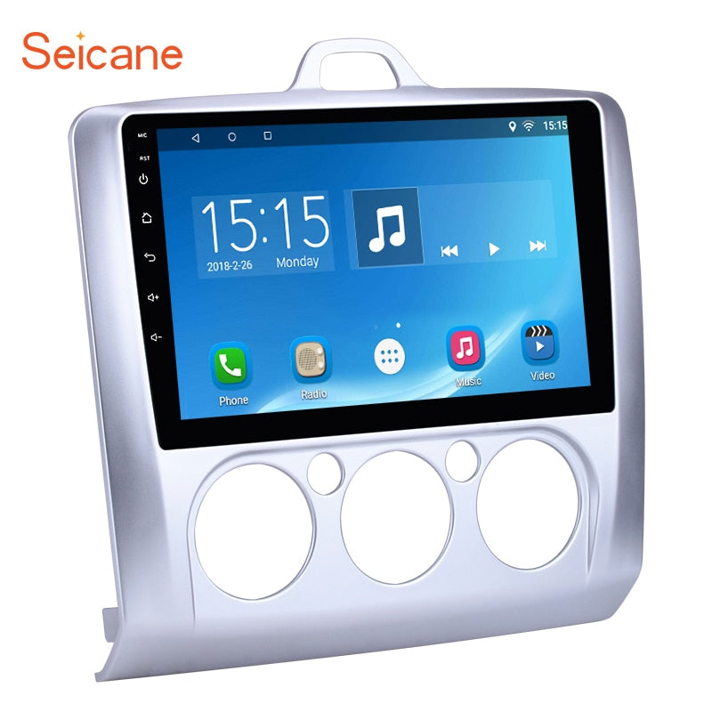 "Seicane 9"" Android 7.1/8.1 Quad Core Car Multimedia Player Radio GPS Navi for 2004-2011 Ford Focus Exi MT     ROM 16GB+RAM 1GB"