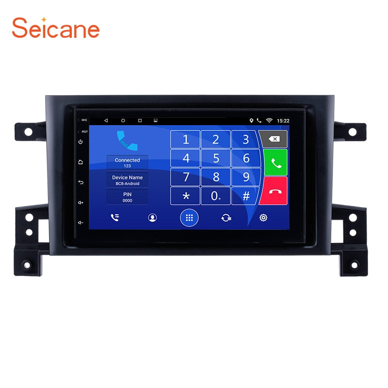 "Seicane Quad-core 2Din 7"" Android 6.0 Car GPS Radio 1G 16G for 2006-2012 Suzuki SX4 with Bluetooth WIFI support Mirror Link DVR"