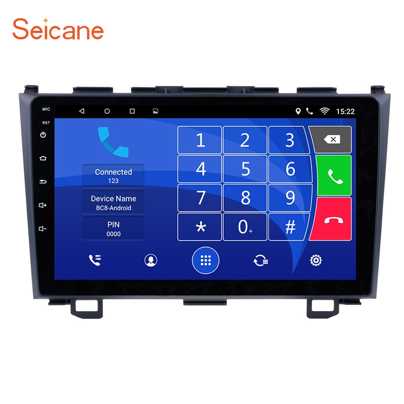 "Seicane  Android 8.1/7.1 9 "" 2 Din Car Radio GPS Navigation System For 2006 2007 2008 2009 2010 2011 Honda CRV support Bluetooth"