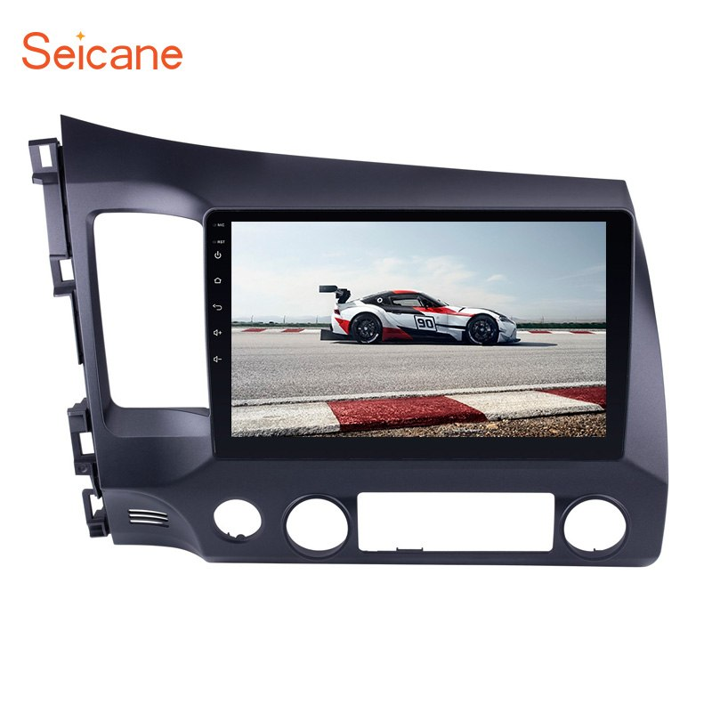 "Seicane 10.1"" 2din 1024*600 Touchscreen Android 8.1/7.1  FM1080P GPS Car Radio for 2006 2007 2008 -2011 Honda Civic support DVR"