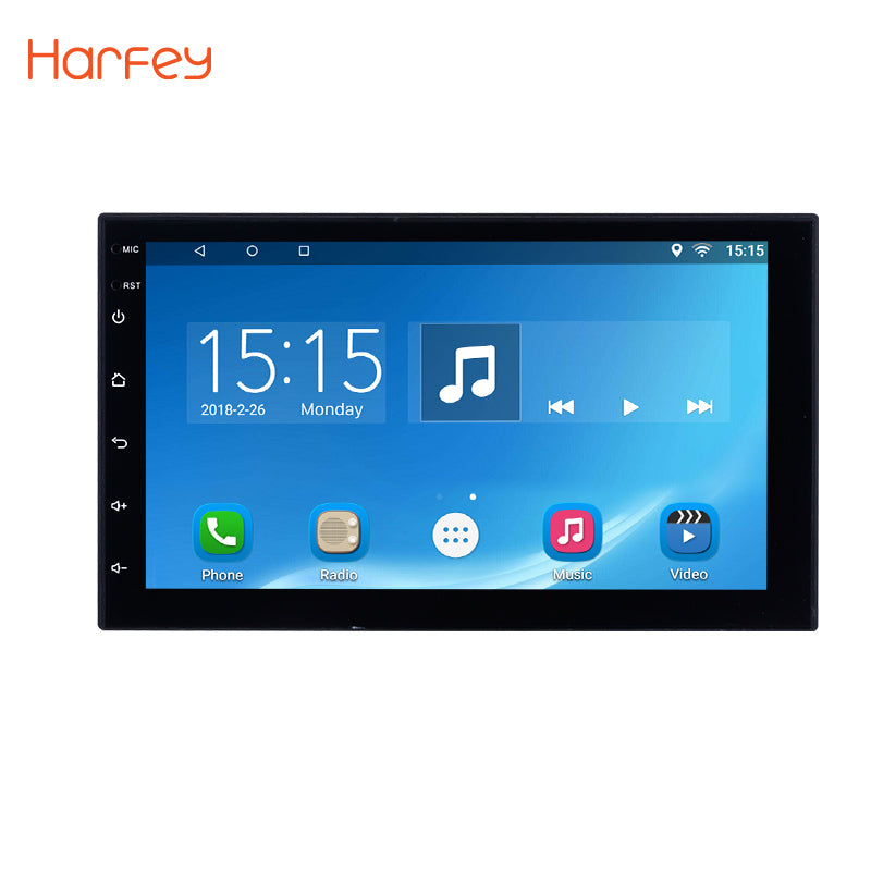 Harfey Android 6.0 2 Din Universal Car Radio Bluetooth Touchscreen GPS Multimedia Player For Nissan VW Toyota Kia Hyundai Suzuki