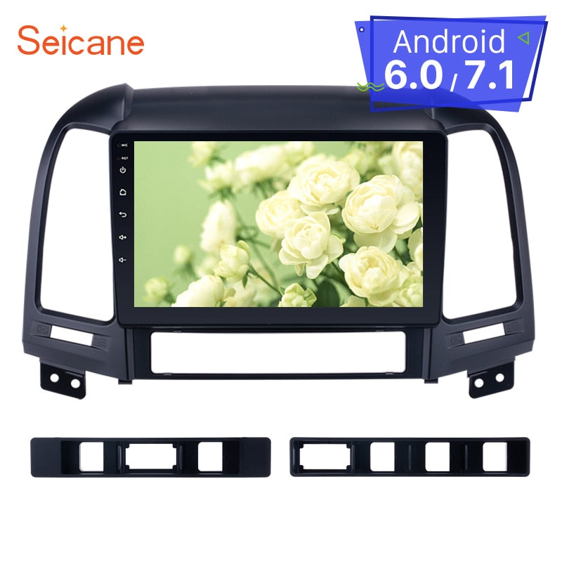 "Seicane Car Multimedia Palyer For 2005-2012 HYUNDAI SANTA FE 9"" 2din Android 8.1/7.1 Bluetooth HD 1024*600 Touchscreen Car Radio"