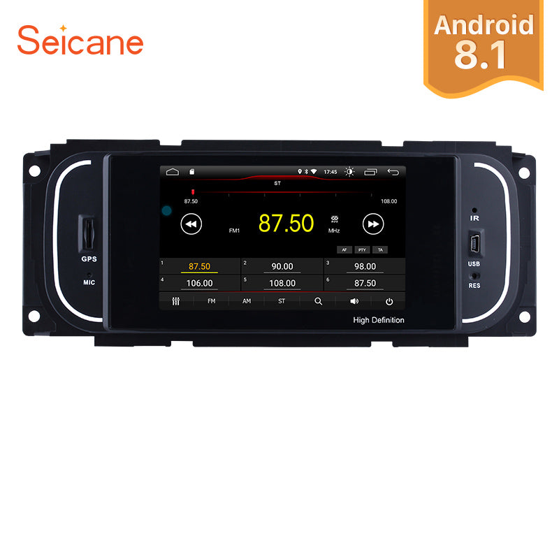 "Seicane Android 8.1 1Din 5"" Car Radio For Chrysler 300M Jeep Grand Cherokee Dodge Audio Stereo Head Unit GPS Multimedia Player"