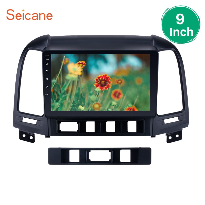 Seicane 2Din Android 7.1/6.0 9inch Car Radio Multimedia Player For 2005-2012 HYUNDAI SANTA FE 4-Core HD 1080P WiFi 3G Head Unit