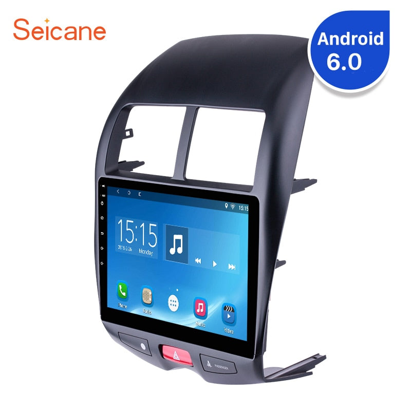 "Seicane 10.1"" 2 DIN Android 6.0/7.1 HD Touchscreen Bluetooth GPS Navi Car FM Radio for Mitsubishi ASX Peugeot 4008 CITROEN C4"