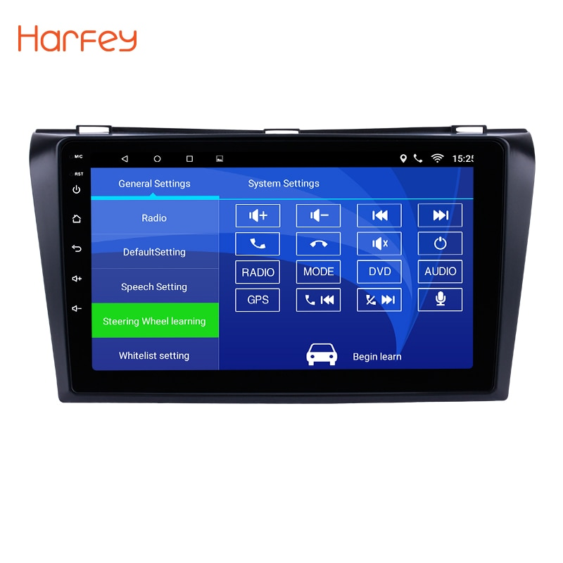 "Harfey 9"" Android 6.0/7.1 Bluetooth Car GPS Navigation Radio Multimedia Player for 2004-2009 Mazda 3 support OBD2 WiFi 1080P DVR"