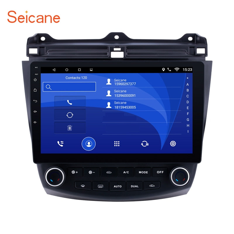 "Seicane Android 6.0/7.1/8.1 10.1"" 2Din Car Radio GPS Multimedia Player Head Unit For Honda Accord 7 2003 2004 2005 2006 2007"