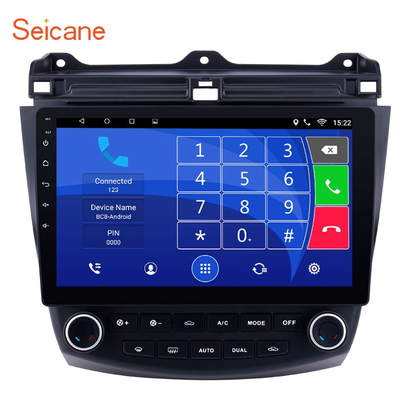 Seicane 10.1 Inch 2DIN Android 8.1/7.1 Touchscreen FM Radio GPS Navigation For 2003 2004 -2007 Honda Accord 7 with Bluetooth