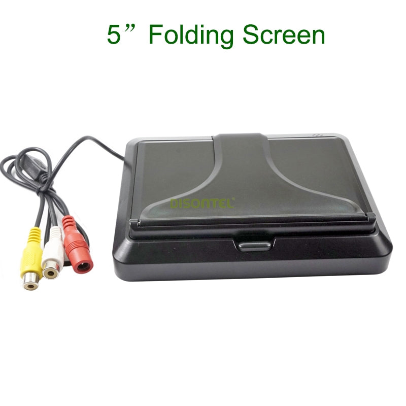 "Car LCD monitor 5 inch foldable Color LCD monitor 5 ""Parking System LCD monitor for car camera"