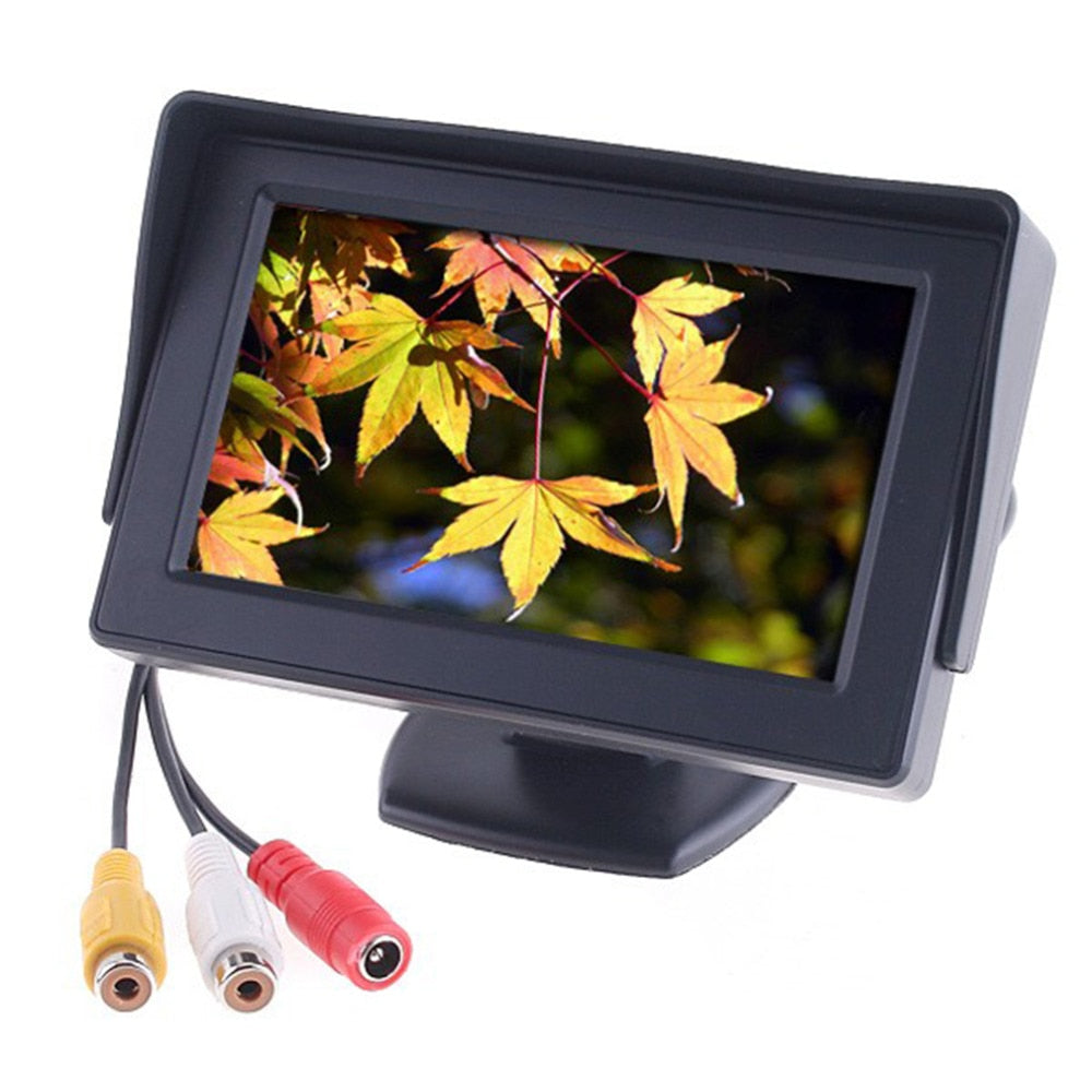 "hot 4.3"" Color TFT LCD Car Monitors Car Reverse Rearview Parking System for Car Backup Rear view Camera Car Styling"