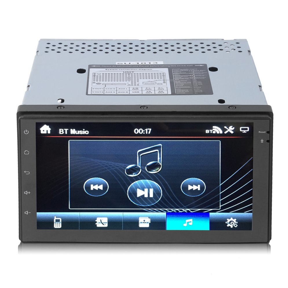 7 Inch Double DIN Quad Core 3G Car Radio Stereo Player MP5 WIFI GPS Navigation Auto Multimedia Player For Android 4.4