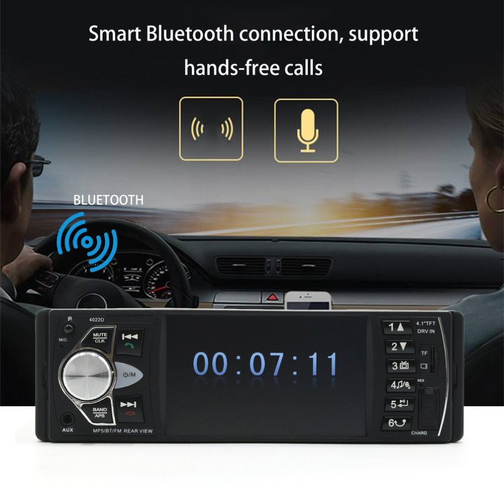 New 4.1-Inch Display Car MP5 Car Parking Assistance System Music Player Car CD Player Replacement Support Hands-free Calls