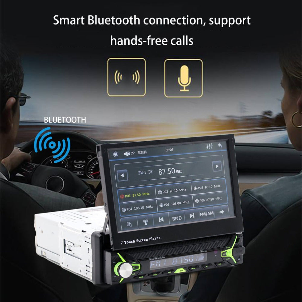 Car Styling 7-Inch Touch Screen Car MP5 Car Parking Assistance System Music Player Car CD Player Replacement Support FM Radio