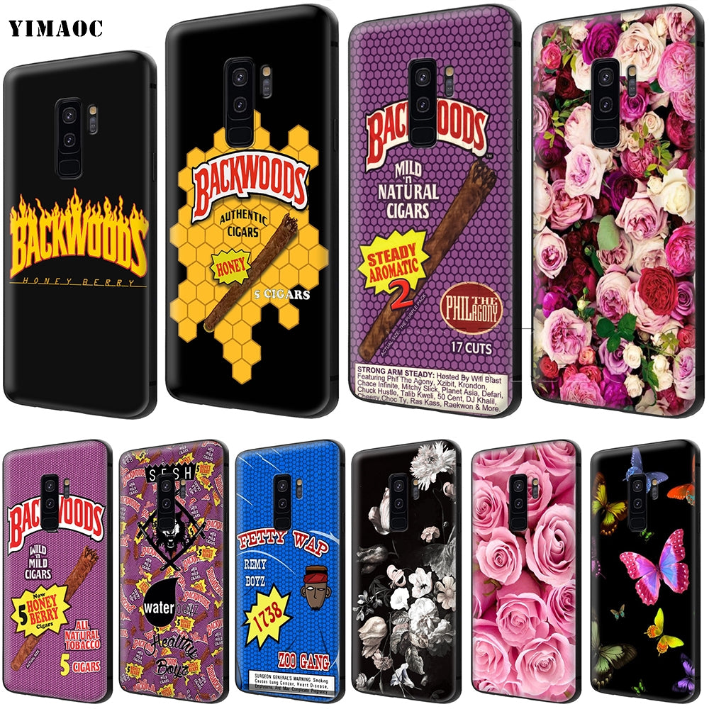 YIMAOC Backwoods Cigars Soft Silicone Case for Samsung Galaxy S6 S7 Edge S8 S9 Plus A3 A5 A6 Note 8 9