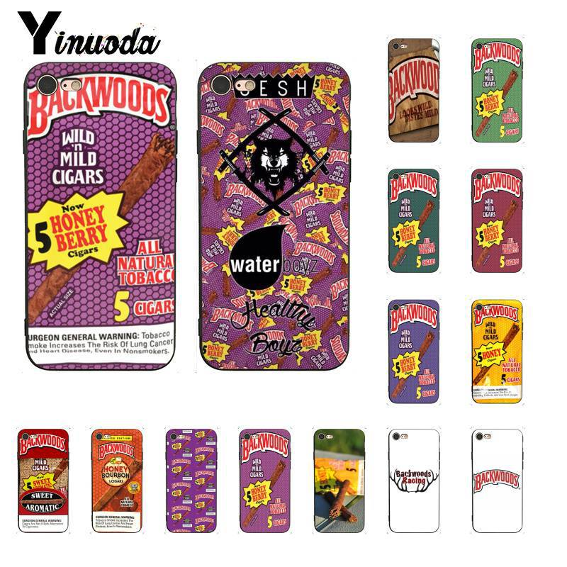 Yinuoda Backwoods Honey Berry Cigars TPU Soft Silicone Phone Case Cover for iPhone6S 6plus 7 7plus 8 8Plus X Xs MAX 5 5S XR case