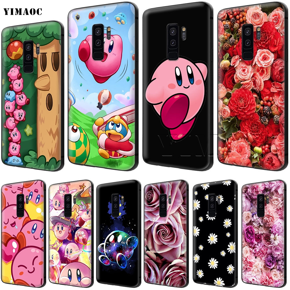 YIMAOC Kirby Mass Attack Soft Silicone Case for Samsung Galaxy S6 S7 Edge S8 S9 Plus A3 A5 A6 Note 8 9