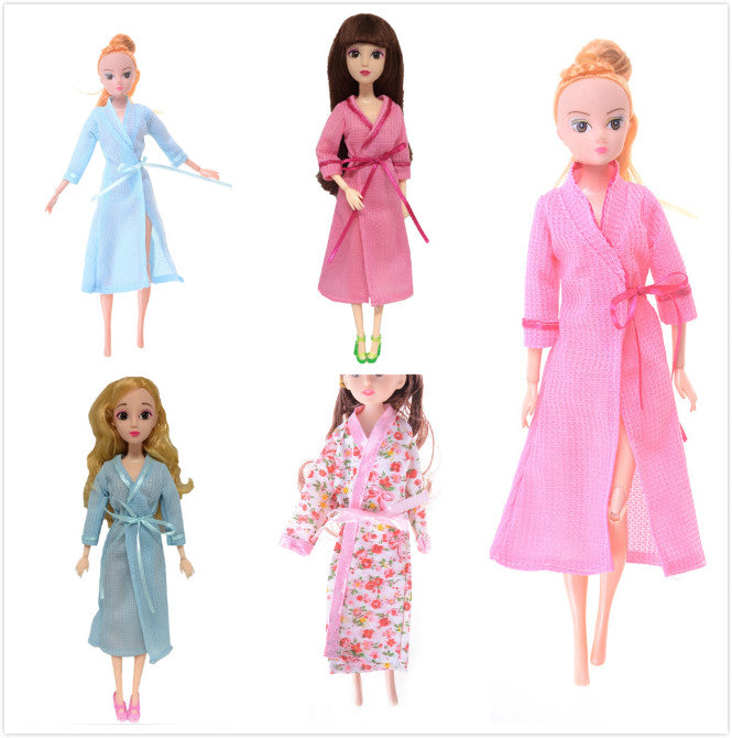 c15545bdd3 ... 1 Set Lace Sexy Bedroom Pajamas Robe Nighty Bathrobe Clothes For Barbie Dolls  Robe Shorts For ...