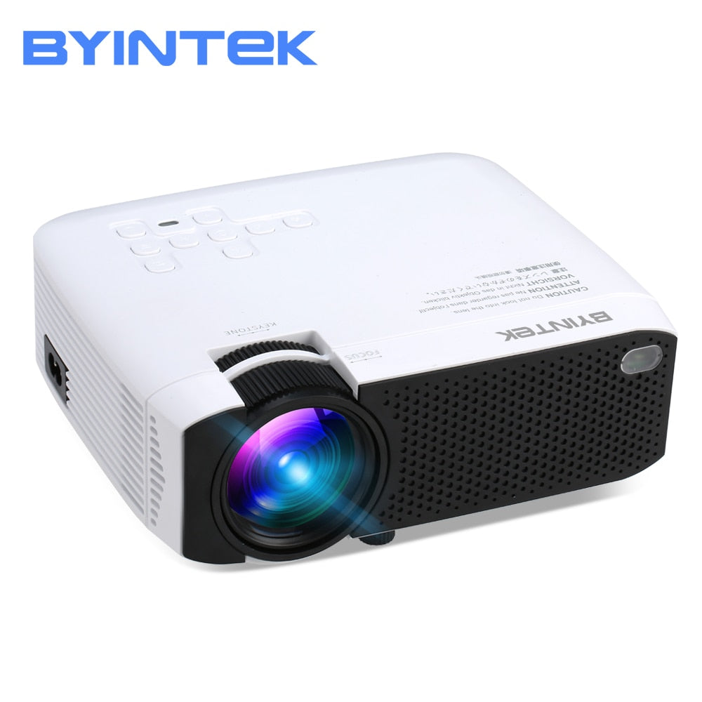 2018 BYINTEK SKY F17 Mini LED Portable Home Theater LCD Video Digital HD Projector with HDMI USB Stereo Speaker