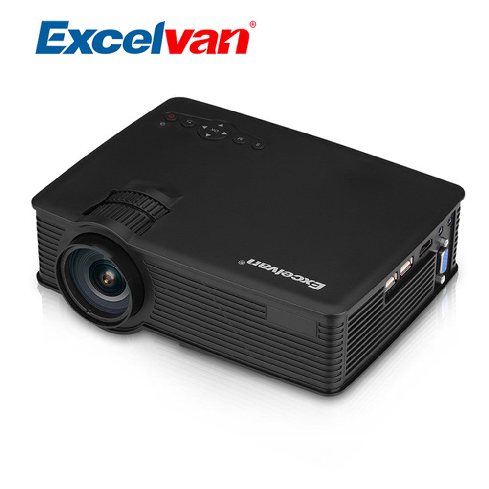 Excelvan EHD09 Portable Mini LED Projector 800x480 Pixels 800 Lumens Home Cinema HDMI/USB/SD/AV/3.5mm Projector