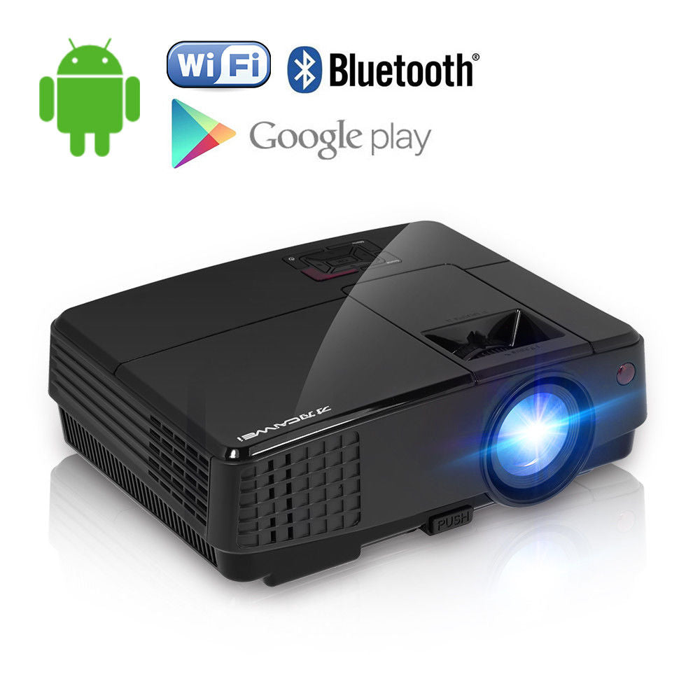 CAIWEI LED Wifi Projector Home Cinema Beamer Android Bluetooth Multimedia Party Game Support 1080p HD Video HDMI VGA USB