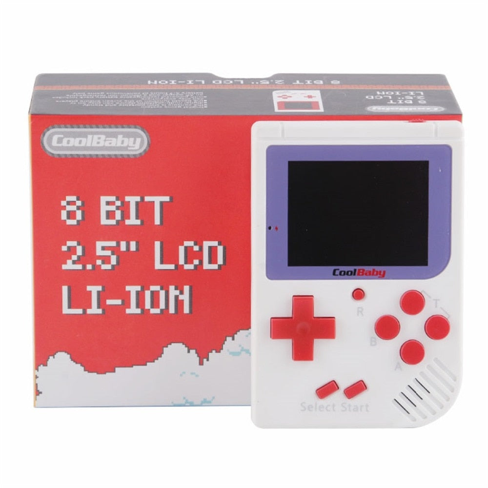 GB BOY RS-6 portable retro game 8-bit console child mini handheld game console LCD color built-in 129 video game gift