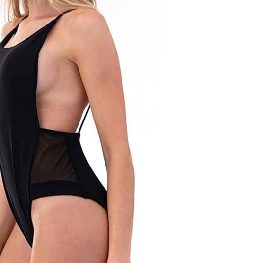 Envya La belle Mesh-insets High Leg One Piece