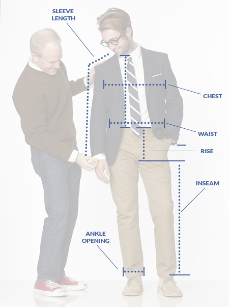Measure by Sleeve Length, Chest, Waist, Rise, Inseam, and Ankle Opening