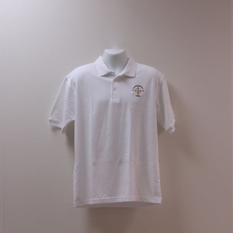 Short Sleeve Uniform Polo White
