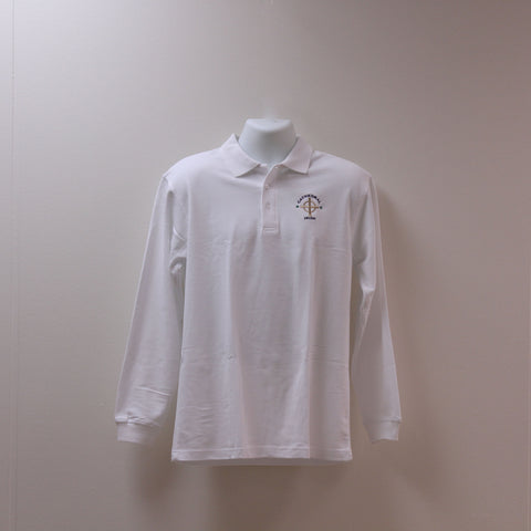 Long Sleeve Uniform Polo White
