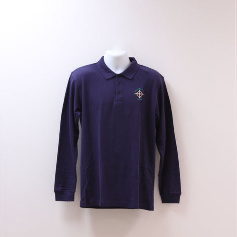 Long Sleeve Uniform Polo Navy