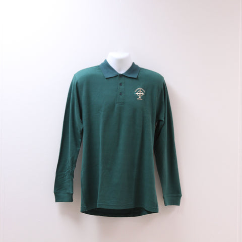 Long Sleeve Uniform Polo Green
