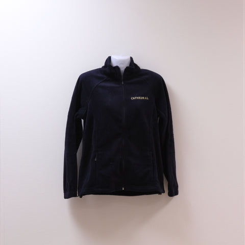 Ladies Cut Uniform Full Zip Fleece Navy