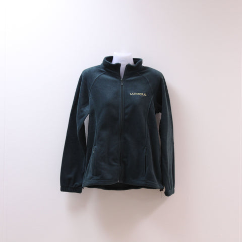 Ladies Cut Uniform Full Zip Fleece Green