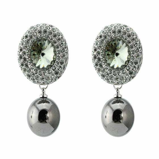 Fancy Crystal Pearl Earrings