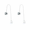 Modern Pearl Crystal Earrings