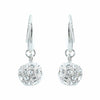 Pave Drop Ball Earrings