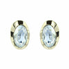 Oval Curve Stud Earrings