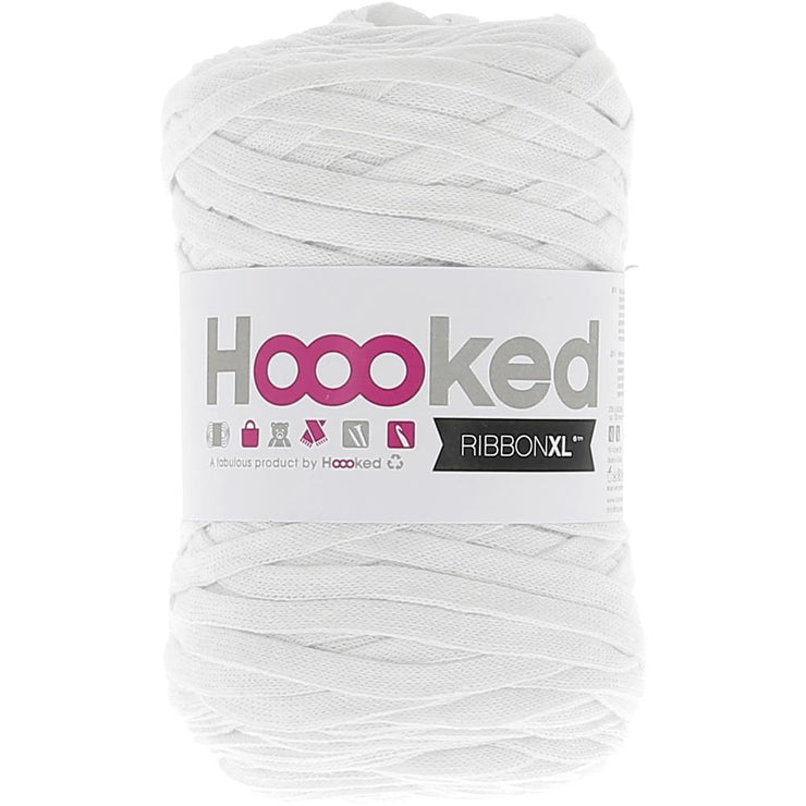 Hoooked Ribbon XL Yarn Optic White
