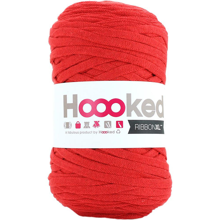 Hoooked Ribbon XL Yarn Lipstick Red
