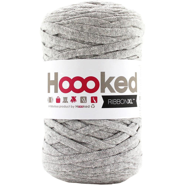 Hoooked Ribbon XL Yarn Silver Gray Grey