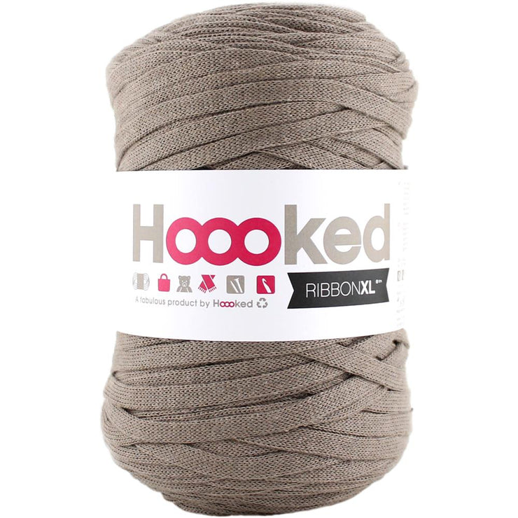 Hoooked Ribbon XL Yarn Earth Taupe